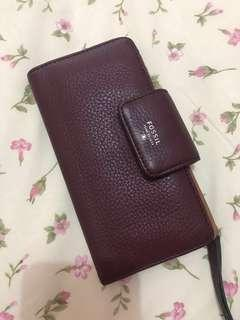 Dompet Fossil maroon