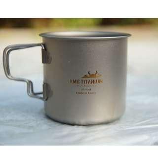 New! 全新 韓國AMG 鈦金屬杯 Titanium cup 250毫升 韓國品牌 韓國製造 camping hiking outdoors made in Korea