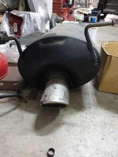 Honda vezel stock muffler