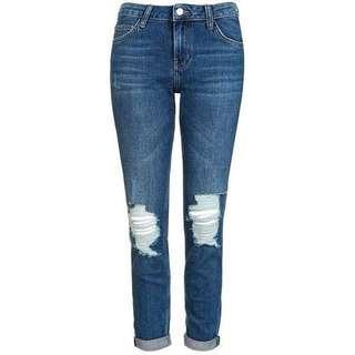 🚚 Topshop Moto Lucas Ripped Boyfriend Jeans in W28 L30 #EndgameYourExcess
