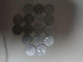 Australia coin 50 cent total got 8.50