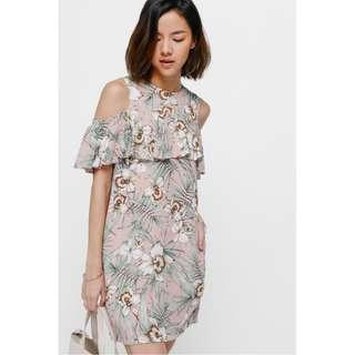 Love Bonito - Alina Printed Cutout Shoulder Dress