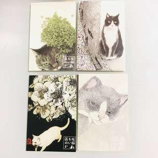 現貨🐱貓國小物🇯🇵MINI GREETING GIFT CARD POSTCARD 日本迷你卡 明信片 賀卡 心意咭