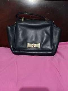 Kate Spade Lucca Drive Handbag with Sling PXRU 5613 001 Black 2WAY Ribbon