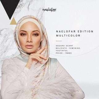 (To Let Go New) Naelofar Neelofa Edition Multicolour Square Scarf