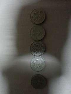 One pound coin total 5.00 pound