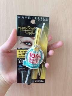 🚚 Maybelline 黑色眼線液筆