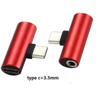 Type C 2 In 1 3.5mm Jack Earphone Charging