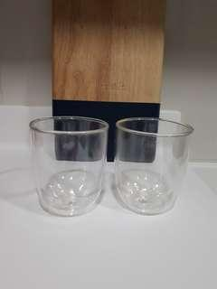 Pyrex Double Layered Glass Cups