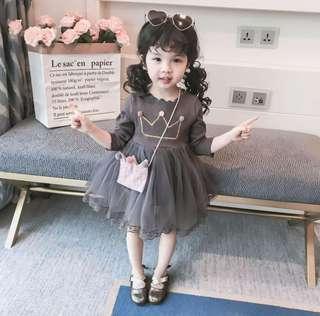🚚 Crown Pom Pom Dress