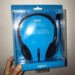 logitech h1111 stereo headset / headphone