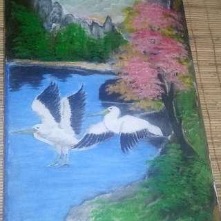 jual lukisan angsa (bisa nego)