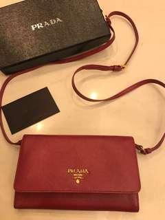 Prada 100% new and real 小手袋/銀包wallet on chain