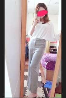 灰色長褲 9.5成新💕韓國製
