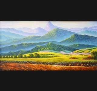 In stock - morning mountain canvas painting