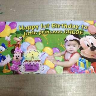 {Limitted Offer} PVC banner for your party decoration/dessert table backdrop
