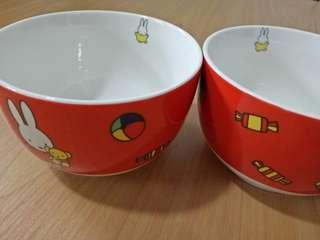 🚚 2 pcs fine porcelain bowls