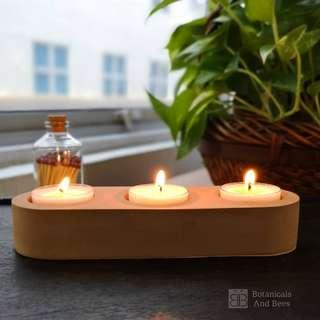 Terracota Series Botanicals And Bees© Triple Tealight Holder