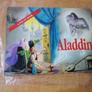 (Hold) Pop Up Book: Aladdin  (All English)
