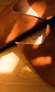 摩洛哥純羊皮軟底家居拖鞋