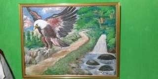 jual lukisan elang murah