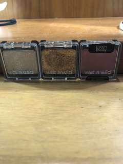 Wet n wild eyeshadow and glitter