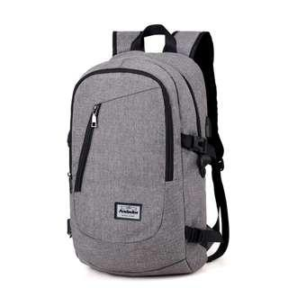 Man USB Charging Business Travel Backpack