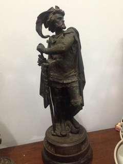 Patung perunggu old eropa