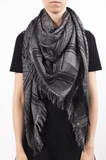 Bnwt Authentic Gucci GG Classic Reversible Scarf Shawl