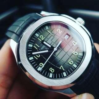PpNautilus automatic grey dial
