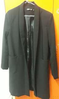 Black Blazer Long Coat