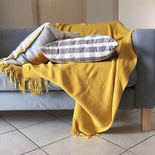 Knit Tassel Sofa Towel