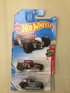 Hotwheels Lot VW beetle & Bone Shaker