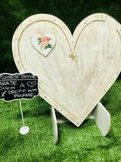 Unique Wedding Wood Guest Drop Message