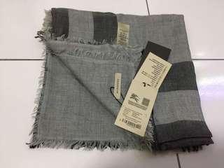 Bnwt Authentic Burberry Grey Checked Shawl