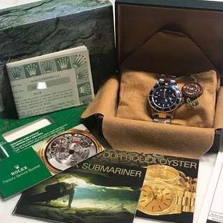 [FULL SET + RSC Receipt] Rolex Submariner 16613 Blue