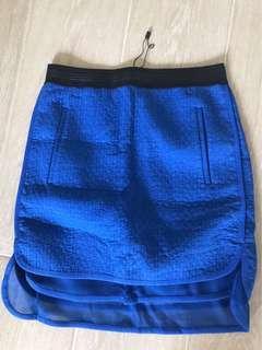 Mo & Co royal blue skirt (new)