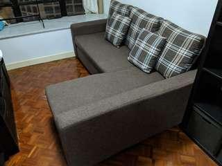 PriceRite L-Shaped Couch, expandable into Bed