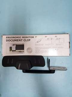 Ergonomic Monitor Document Clip