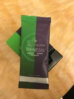 AllySian Genesis Green + Berry Powder Dietary Supplement 加拿大 膳食纖維補充品 13 包