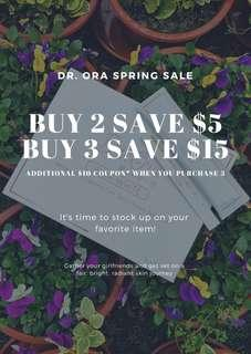 Dr Ora on promotion, not to be missed (ends on 6 April)