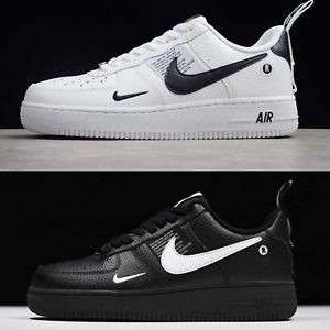 on sale 0e3e2 4b52f Nike Air Force 1 LV8 Utility Low White and Black