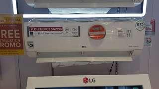 LG aircon frre free installation