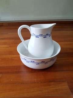 Ceramic milk jug n basin