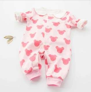 🚚 Baby Pink Mickey Romper