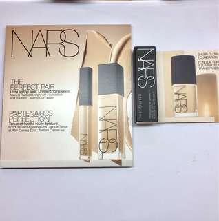 包平郵NARS 6 colours Foundation + 3 colours concealer + Sheer glow foundation 4mL