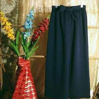 Long Square Pants Navy Blue