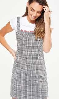 plaid / checkered / gingham pinafore dress