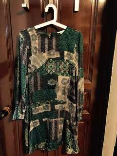 Mosaic green flare dress from H&M