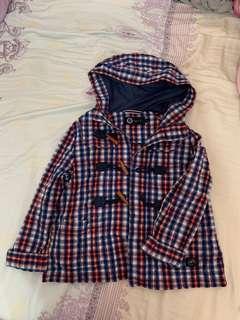 Sport b 紅藍格仔有帽外套  Sport b 1號size  胸:50cm 長:55cm  購自專門店,95% 新